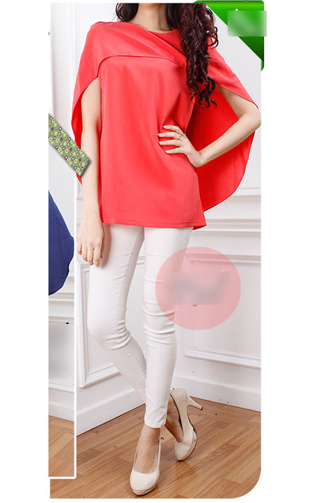 Trendy Cape Top Fashion Looks With Jeans Idea: 11street Malaysia - Blouses