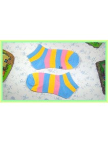 Fashion Lady Socks Low Length Three Stripe Color