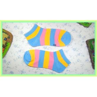 Fashion Lady Socks Low Length Three Stripe Color