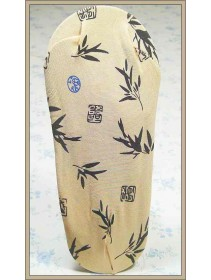 Fashion Foot Cover With Plants & Chinese Character Design