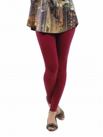 Fashion Quality Leggings Sheer Maroon