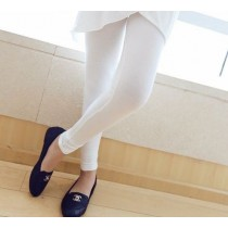 Fashion Quality Leggings Sheer White