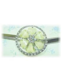Fashion Silver Plated Belt With Stunning Love-Shape Rhinestones & Round Shinning Diamonds