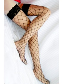 Sexy Broad Black Fishnet Stockings