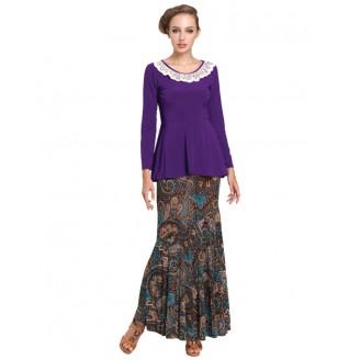 Fashion Lace Crochet Collar Peplum Top