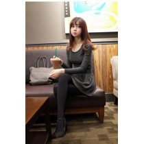 Fashion Basic Lady Slim Flare Dress