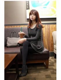 Fashion Basic Lady Slim Flare Dress