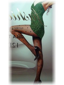 Fashion Pantyhose With Multiple Polka Dots Design 12D