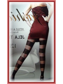 Fashion Pantyhose Style & Elegance Jela With Multiple Stripes Wrap Design 12D