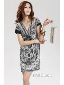 Fashion Deep V Kimono Dress