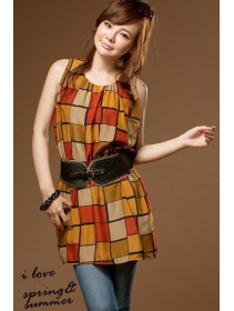 Fashion Checkers Pattern Dress
