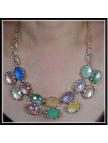 Fashion Korean Exotic Round Shape With Multiple Color Design Necklace