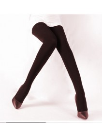 Fashion Basic Long Dark Brown Tights