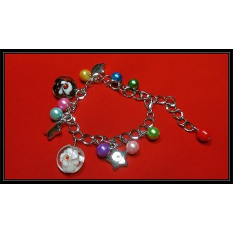 Fashion Multi-Color Pearl Stars Crystal Bracelets