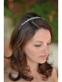 Lovely Silver Crystal Middle-Round Shape Hairband