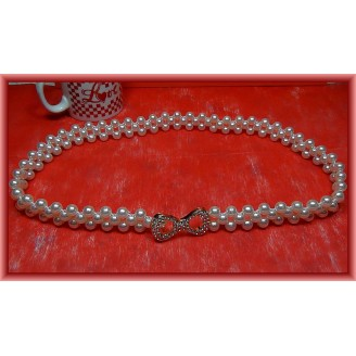 Fashion Pearl-Knitted Lady Belt