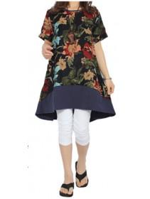 Fashion Flax Commoner Retro Floral Design Dress