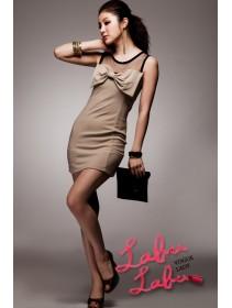 Fashion Butterfly Ribbon Almond Design Dress