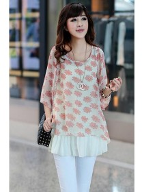 Trendy Two-Piece Joint Round Neck Causal Top