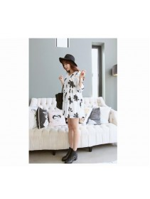 Fashion Floral Design High Waist Short Dress
