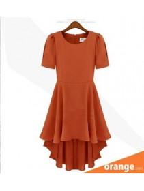 Fashion Basic Elegant Flare Dress With Back Zip