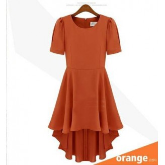 Fashion Basic Elegant Flare Dress With Back Zip