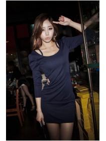 Fashion Slim Mini Dress With Open Stylish Side