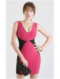 Fashion Deep V Sexy Slim Mini Dress