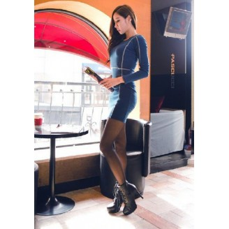 Fashion Basic Long Sleeve Slim Mini Dress