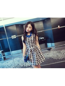 Fashion Multiple Hat Design Lady Flare Dress
