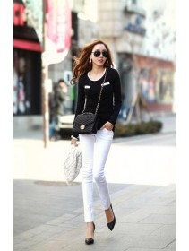 Trendy Round Neck Casual Long Sleeve Top