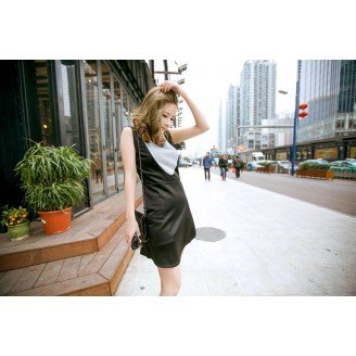 Fashion Glitted Design Sleeveless Dress