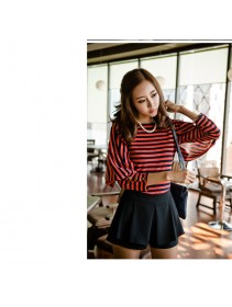 Trendy Stripes Design Slim Top