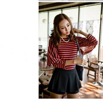 Trendy Stripes Design Slim Top