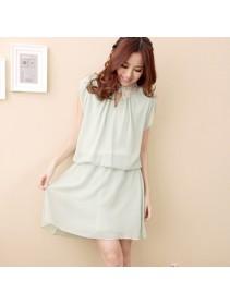 Fashion Ruffles Collar Chiffon Mini Dress