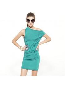 Fashion European Style Lycra Mini Dress