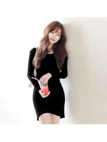 Fashion Korean Stylish Long Sleeve Mini Dress