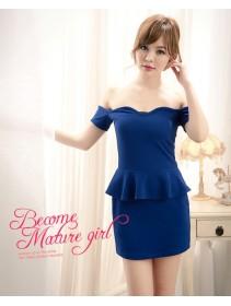 Fashion Elegant Off Shoulder Peplum Mini Dress