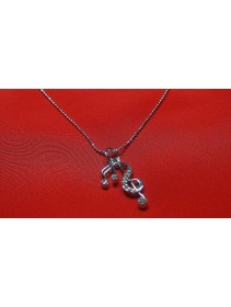 Fashion Silver Music Note Shape Necklace