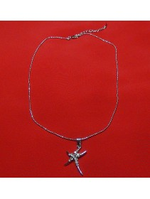 Fashion Silver Starfish Shape Necklace