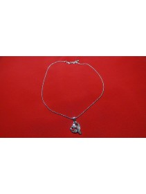 Fashion Silver Exotic Love Shape Crystal Necklace