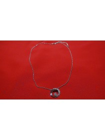 Fashion Silver Exotic Round Shape With Crystal Necklace
