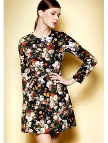 Fashion Floral Design Lady Mini Dress