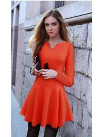 Fashionable Trendy Basic Lady Flare Mini Dress