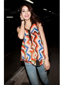 Fashion Zig Zag Design Top