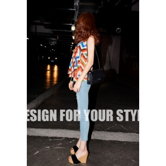 Fashion Zig Zag Design Top