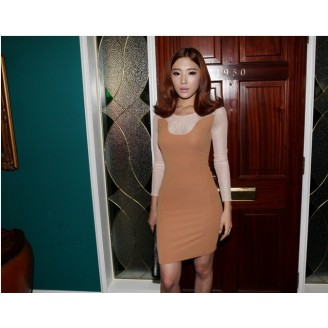 Fashion Long Sleeve Elegant Dress