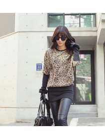 Fashion Leopard Design Lady Long Sleeve Dress