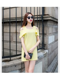 Fashion Korean Trendy Off Shoulder Lady Mini Dress