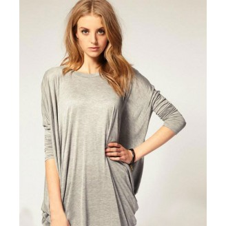 Trendy Layered Loose Long Sleeve Top
